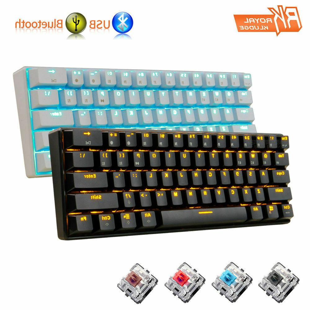 US Wireless Bluetooth LED Backlit Gaming Mechanical Keyboard