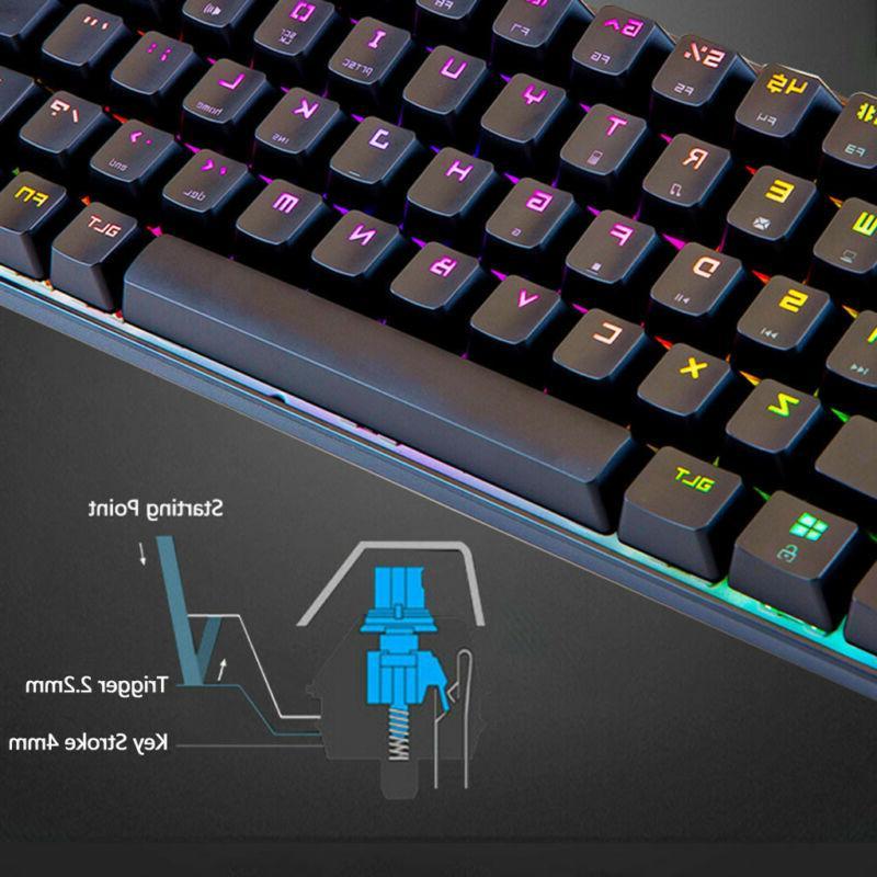 68-Key Mechanical Keyboard Backlit Keyboard Extra-Thin Light