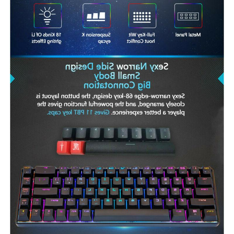 68-Key Backlit Wired Keyboard Extra-Thin & Light