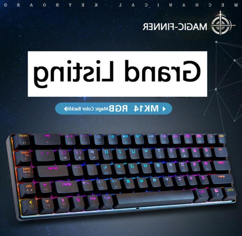 68 key mechanical keyboard rgb backlit wired