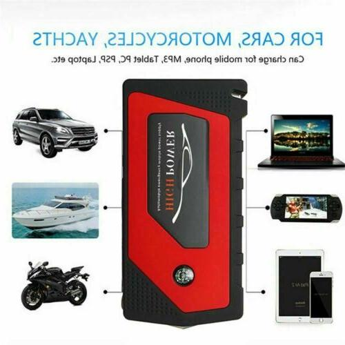 69800mAh 12V Car Starter Portable USB Power Bank Booster Clamp 600A