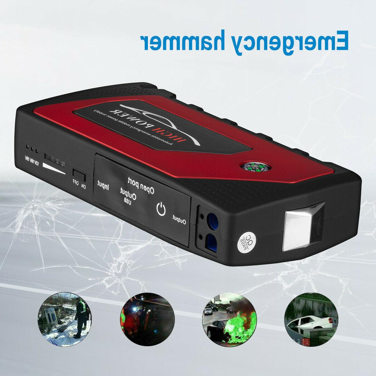 12V Car Starter Portable Bank Battery Booster Clamp 69800mah
