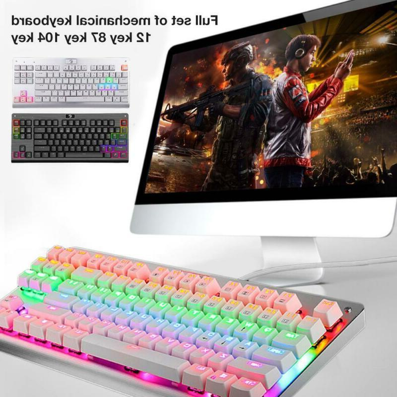 87 key mechanical gaming keyboard ergonomic computer