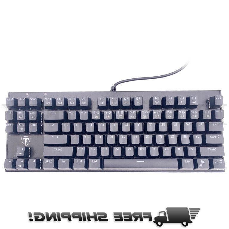 87 key water resistant mechanical gaming keyboard