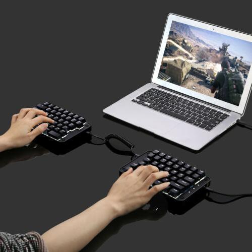89 keys programmable keyboard split mechanical w