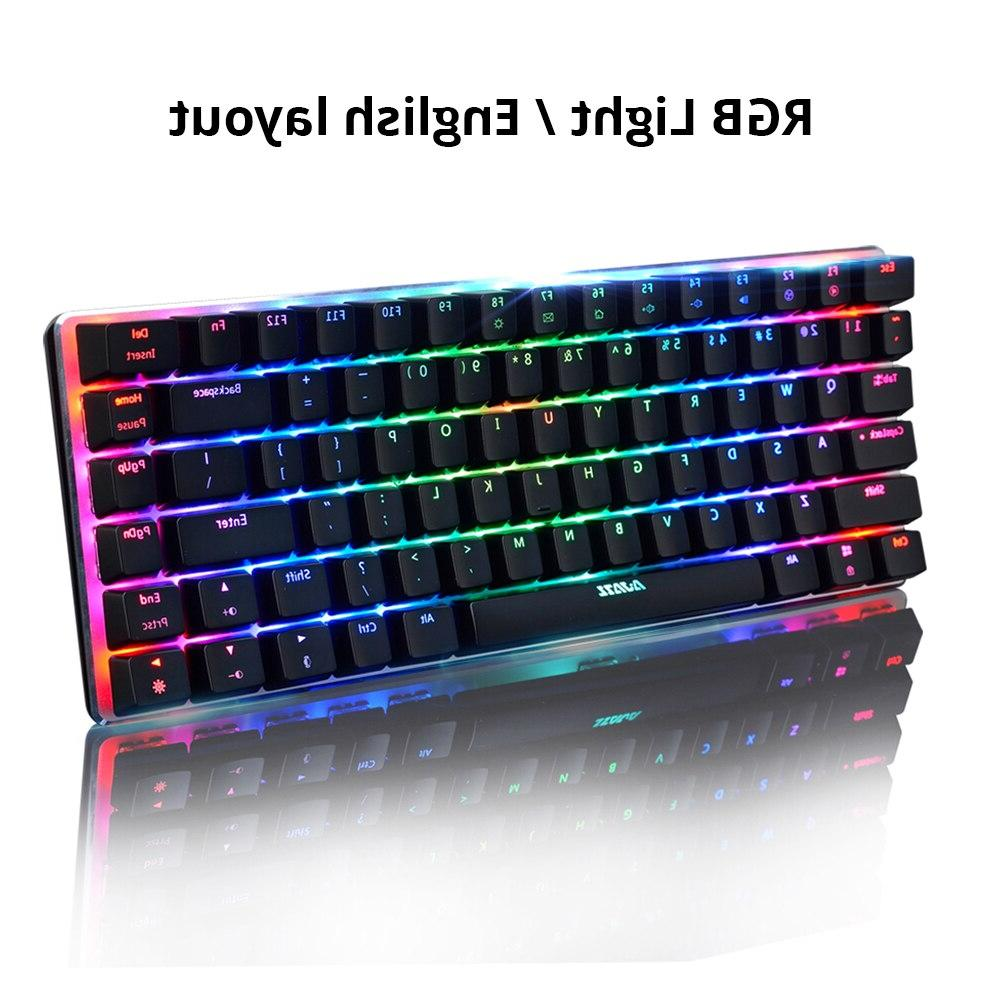 Ajazz keys RGB backlight black switch wired