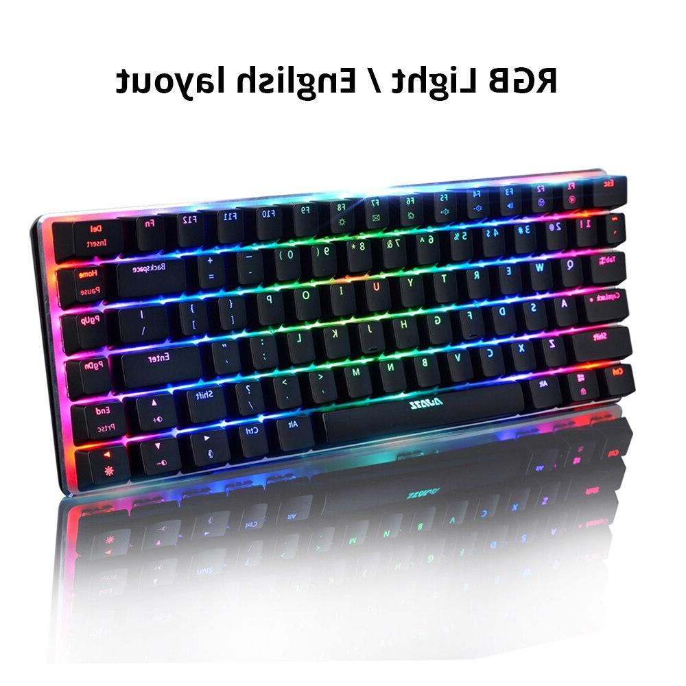 Ajazz keys RGB backlight black switch wired
