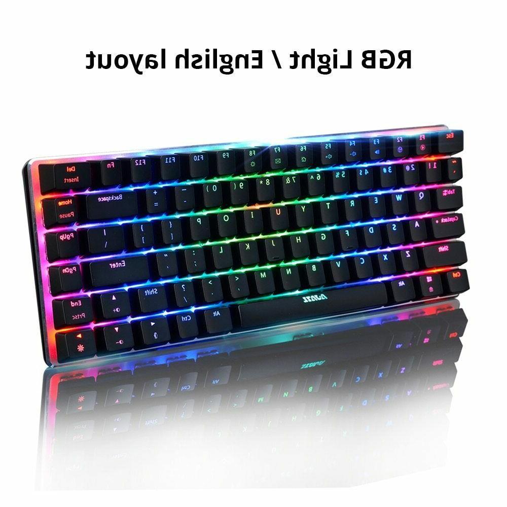 Ajazz AK33 keys mechanical keyboard English layout gaming