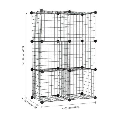 Multifunction Grid Cube Storage Shelf