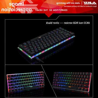 AJAZZ Mechanical Keyboard Gaming E-sport LED Colorful M7Q0