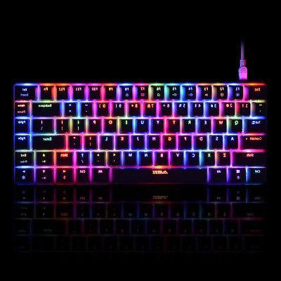 AJAZZ Mechanical Keyboard RGB 82 for Gaming PC Desktop Laptop O8M7