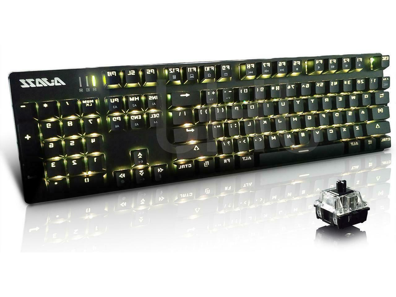 Ajazz AK52 Wired Mechanical Gaming Keyboard with 104 Keys/Backlit USB