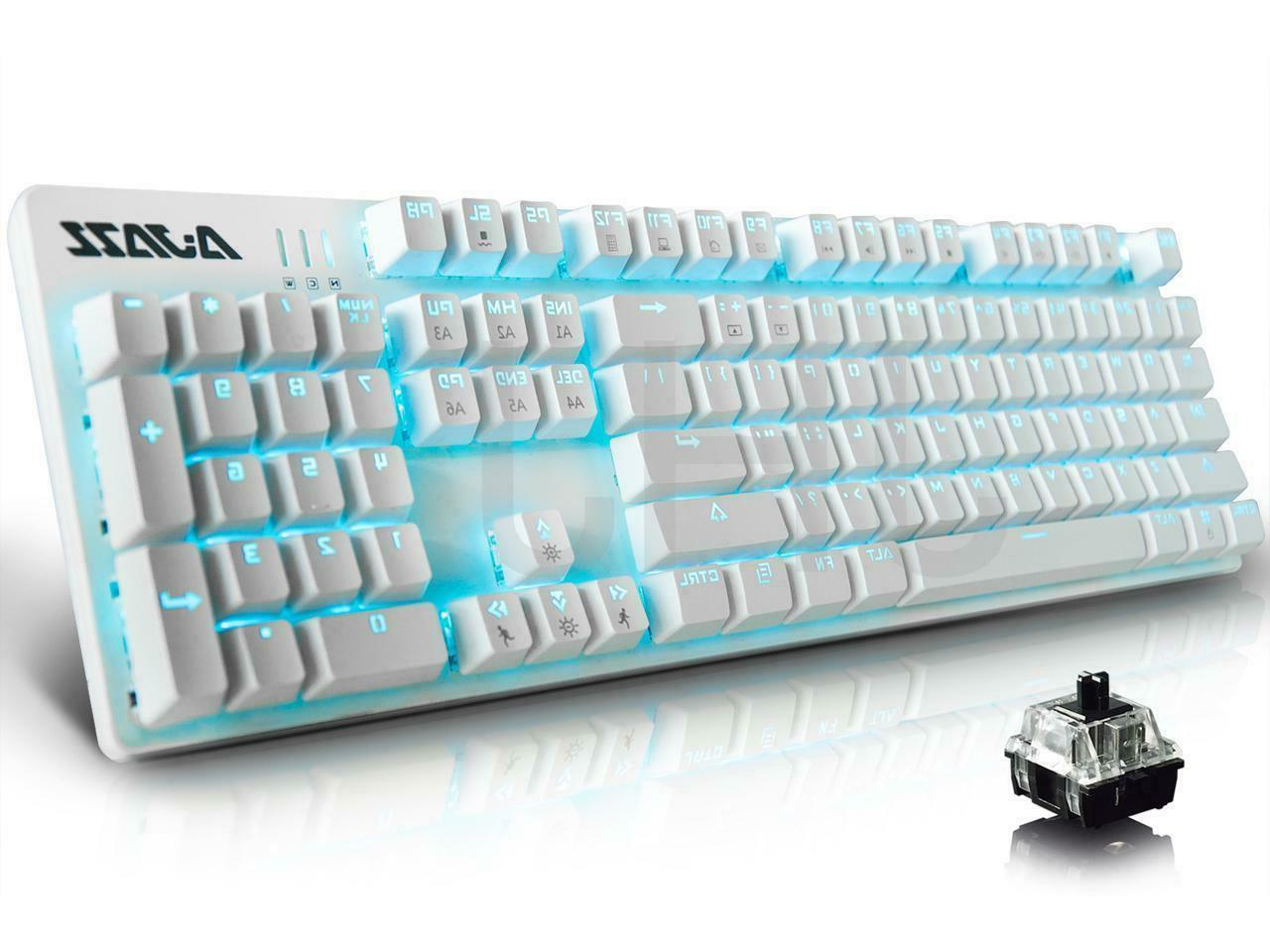Ajazz AK52 Gaming Keyboard 104 Keys/Backlit USB