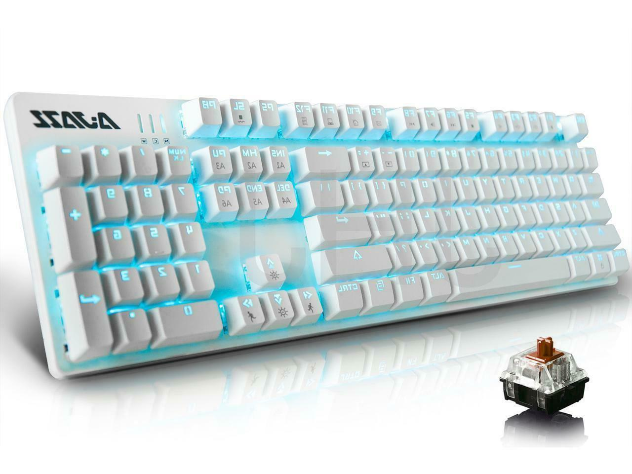 ak52 wired mechanical gaming keyboard backlight anti