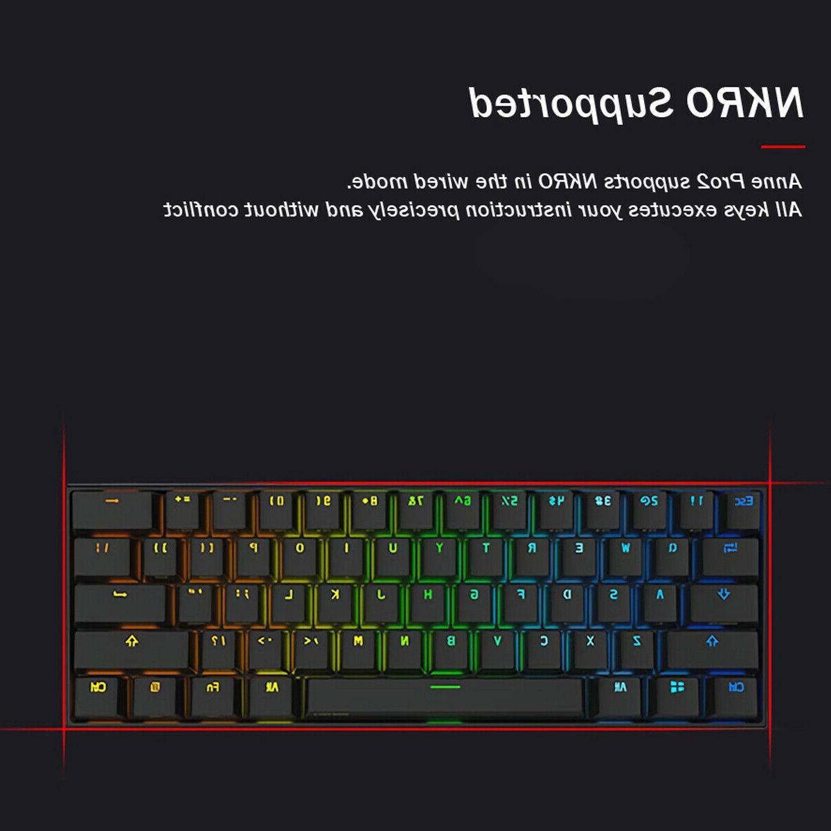 Obins Anne Pro 2 60% RGB Mechanical Gaming Keyboard Switch