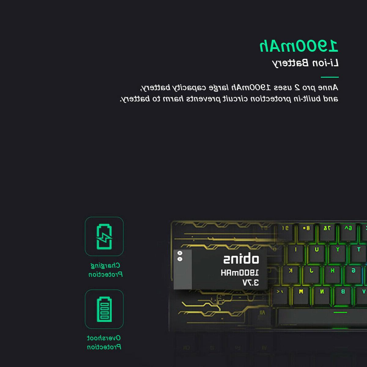 Obins Anne Pro 60% Mechanical Gaming Keyboard Kailh Switch