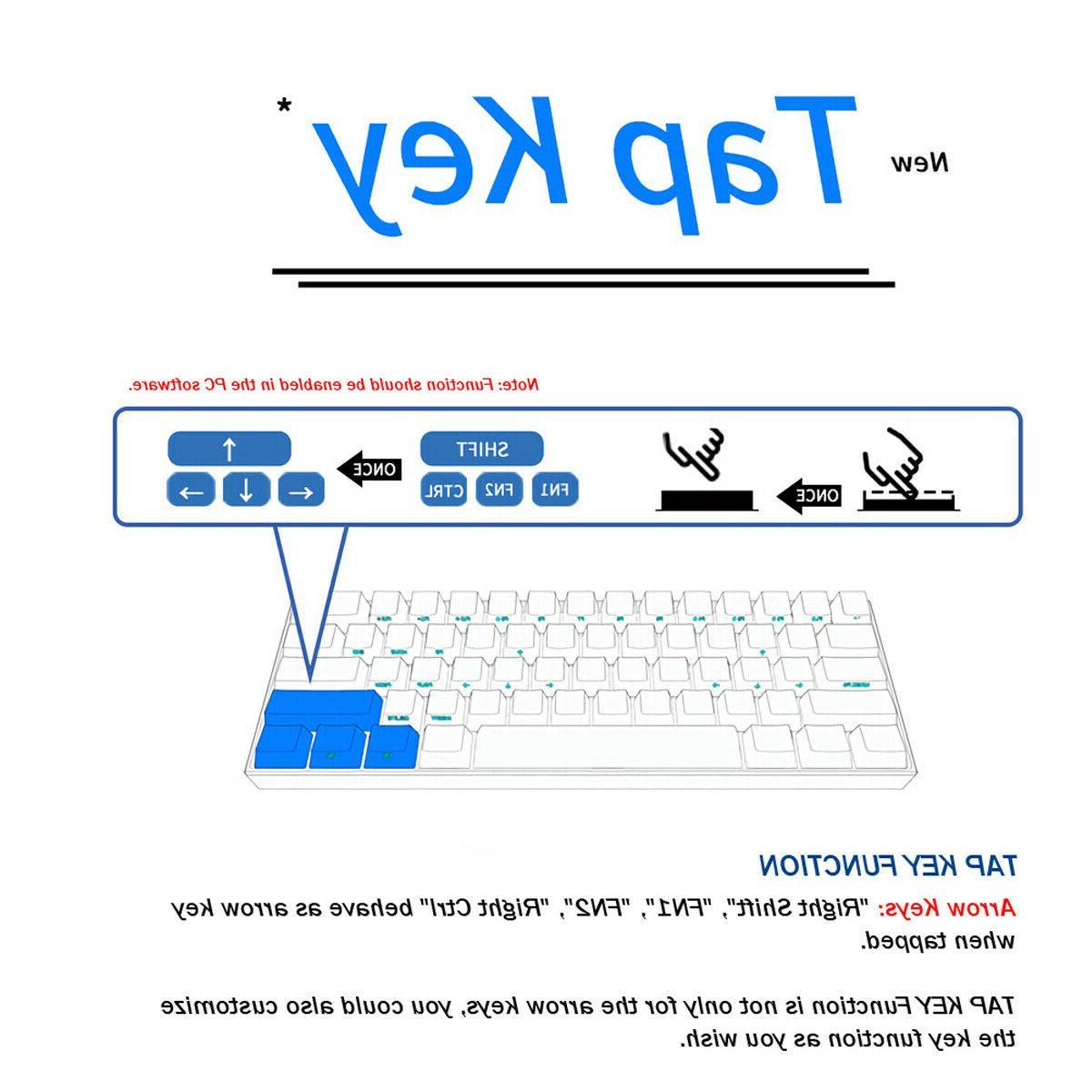 Obins 60% Mechanical Gaming Keyboard BOX Switch