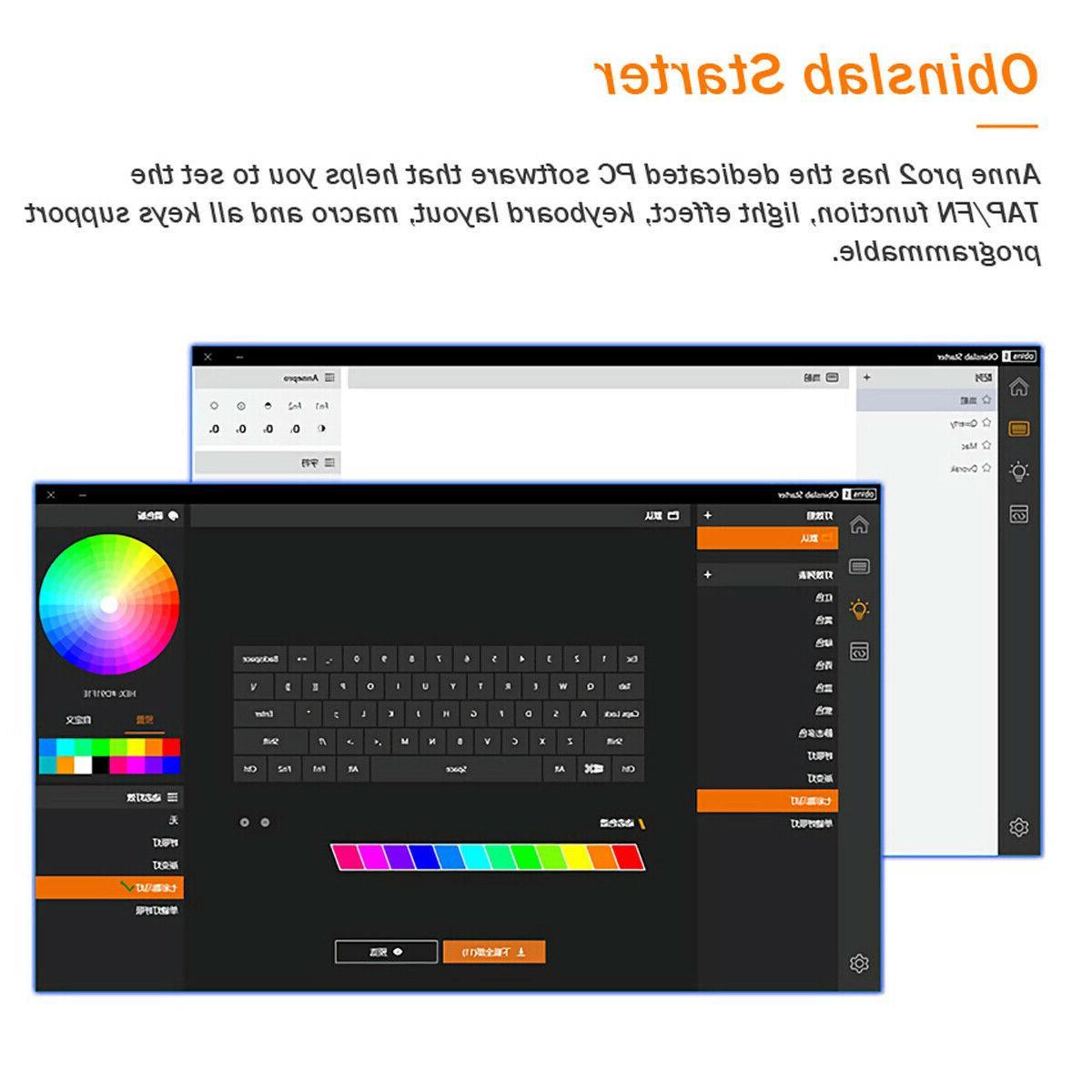 Obins Anne Pro 60% Mechanical Gaming Keyboard Switch