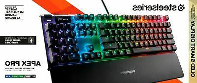 SteelSeries - Apex Wired Gaming Mechanical Adjustable Switch Ke...