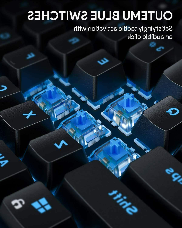 AUKEY Gaming Keyboard RGB Backlitight