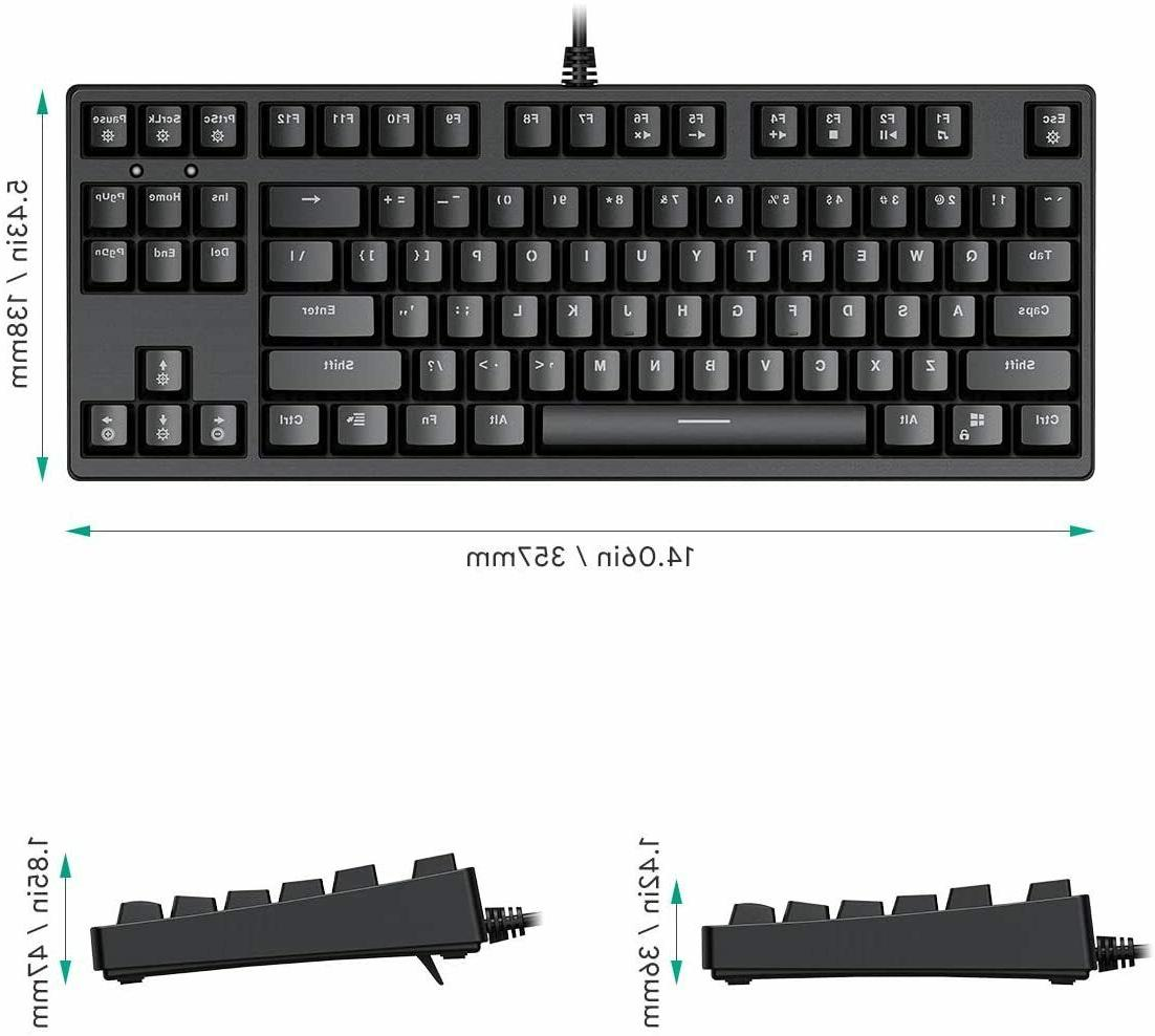 AUKEY Mechanical Keyboard TKL Gaming Keyboard RGB