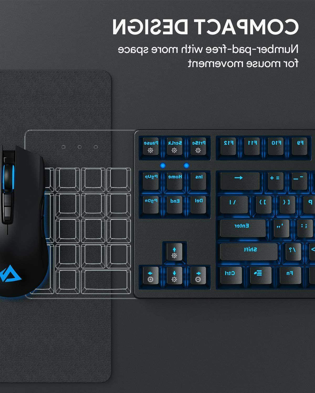 AUKEY TKL Gaming Keyboard Backlitight