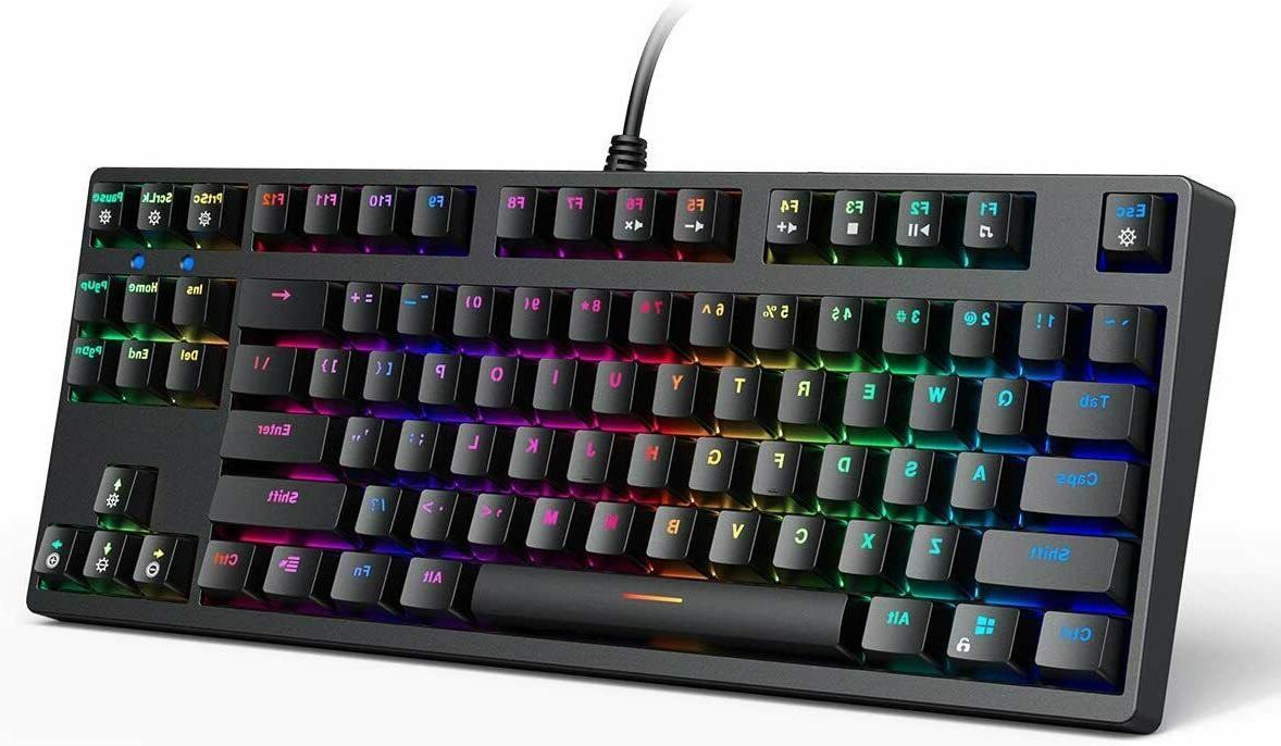 mechanical keyboard tkl gaming keyboard rgb backlitight