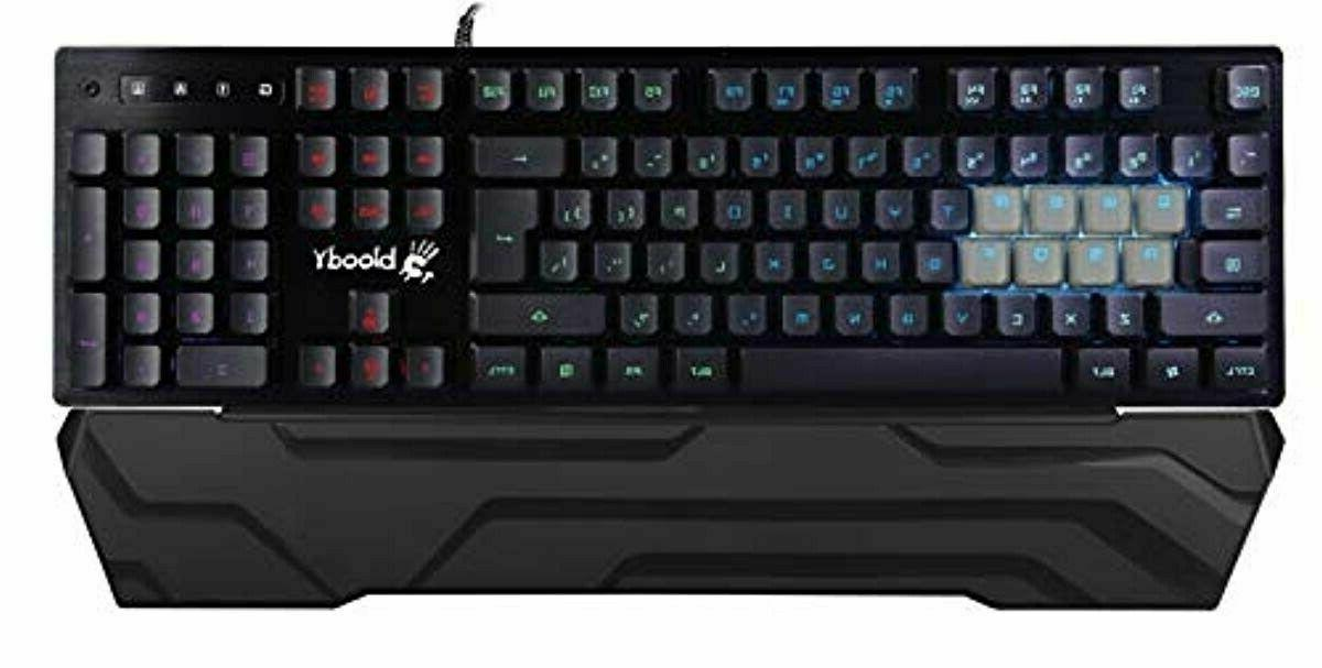 B380 8-Key Light Strike Optical RGB Gaming Keyboard with Wri