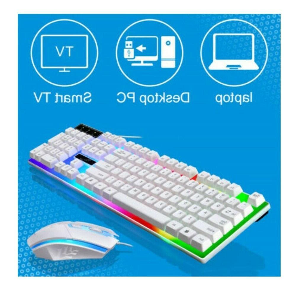 Computer RGB And Mouse Mechanical Feeling Keyboard Led