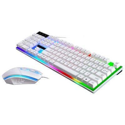 Backlit Computer Desktop Gaming Keyboard Mechanical Feel