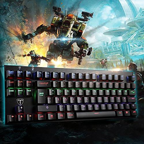 Backlit Gaming Water-Resistant Mechanical with Blue Backlit Keyboard