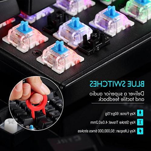 TOMOKO 87 Key Water-Resistant Blue Switches, Backlit