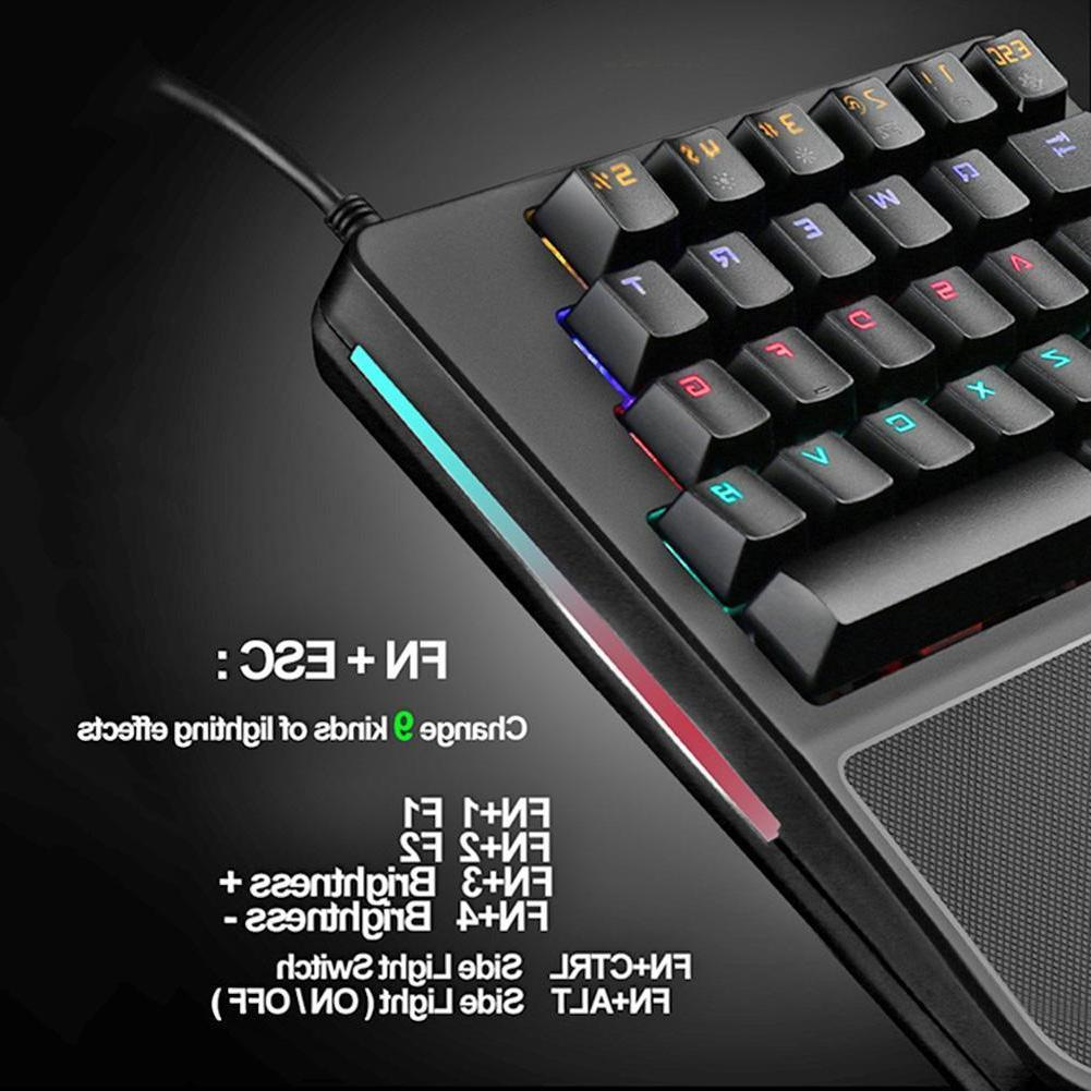 Backlit Mechanical Keyboard USB Game w/Mouse