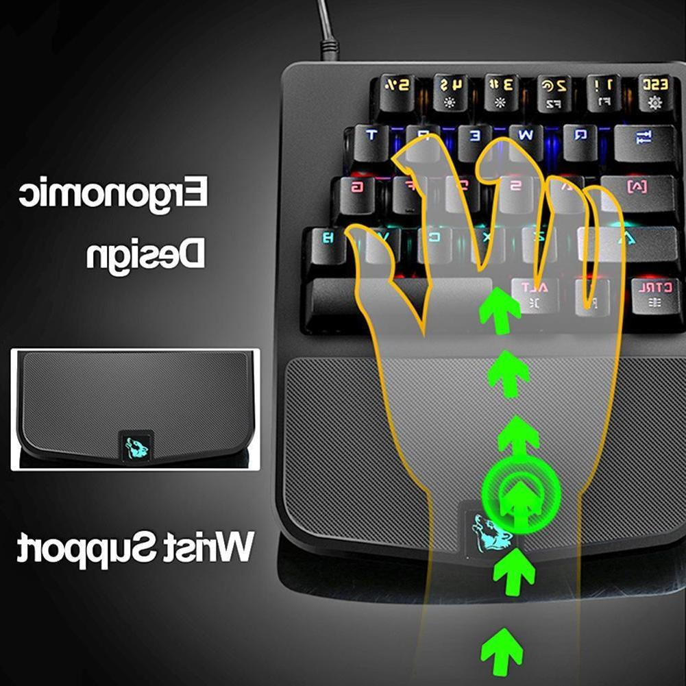 Backlit Mechanical Wired USB Ergonomic Game