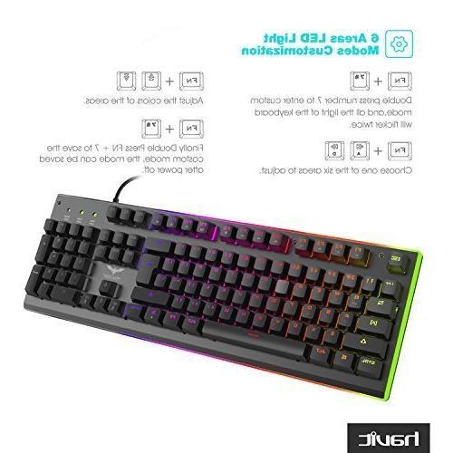 HAVIT RGB Backlit Membrane Typing/Gaming Experience