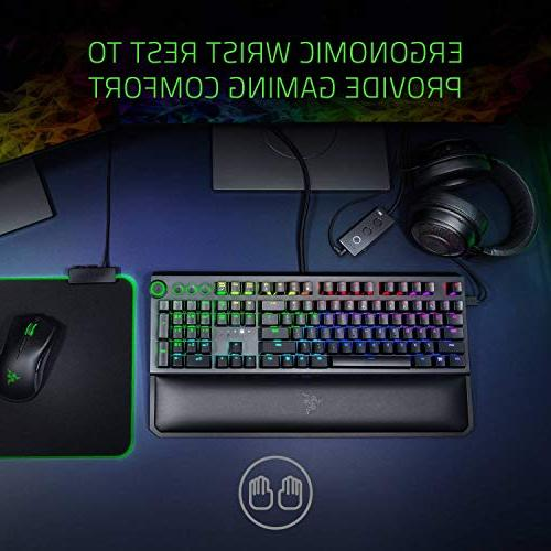 Razer Gaming - Multi-Function Digital Dial Dedicated Media Controls Ergonomic Wrist Rest Orange Mechanical