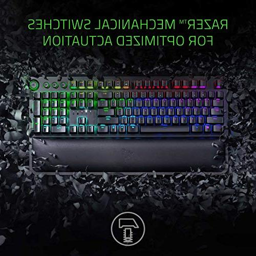 Razer BlackWidow Elite: Gaming Multi-Function Digital Dial Dedicated Media Controls - Wrist Orange Mechanical