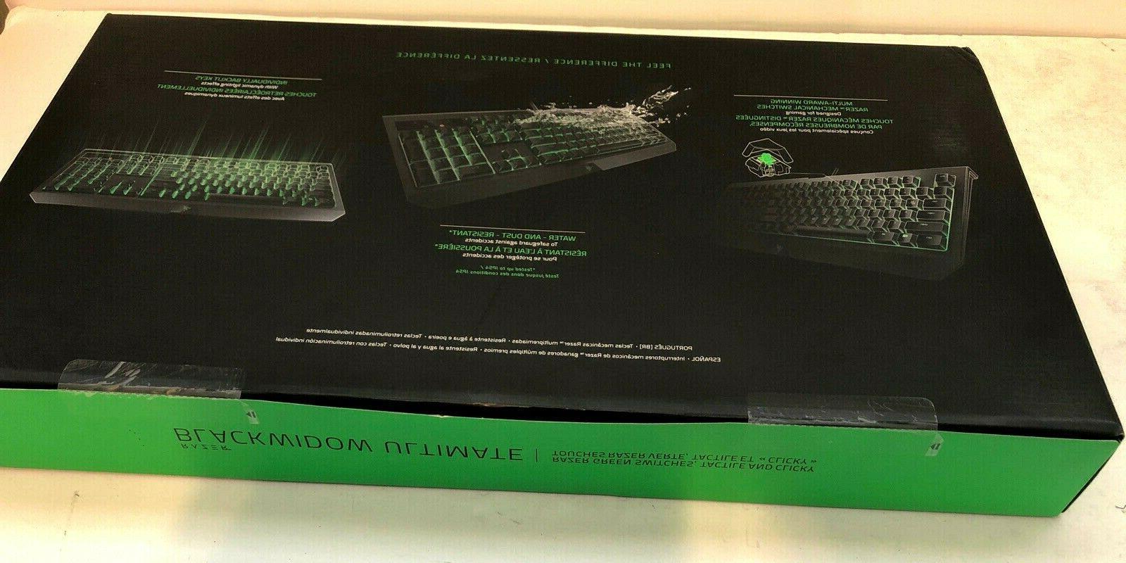 Razer BlackWidow Ultimate Gaming Keyboard Windows NEW