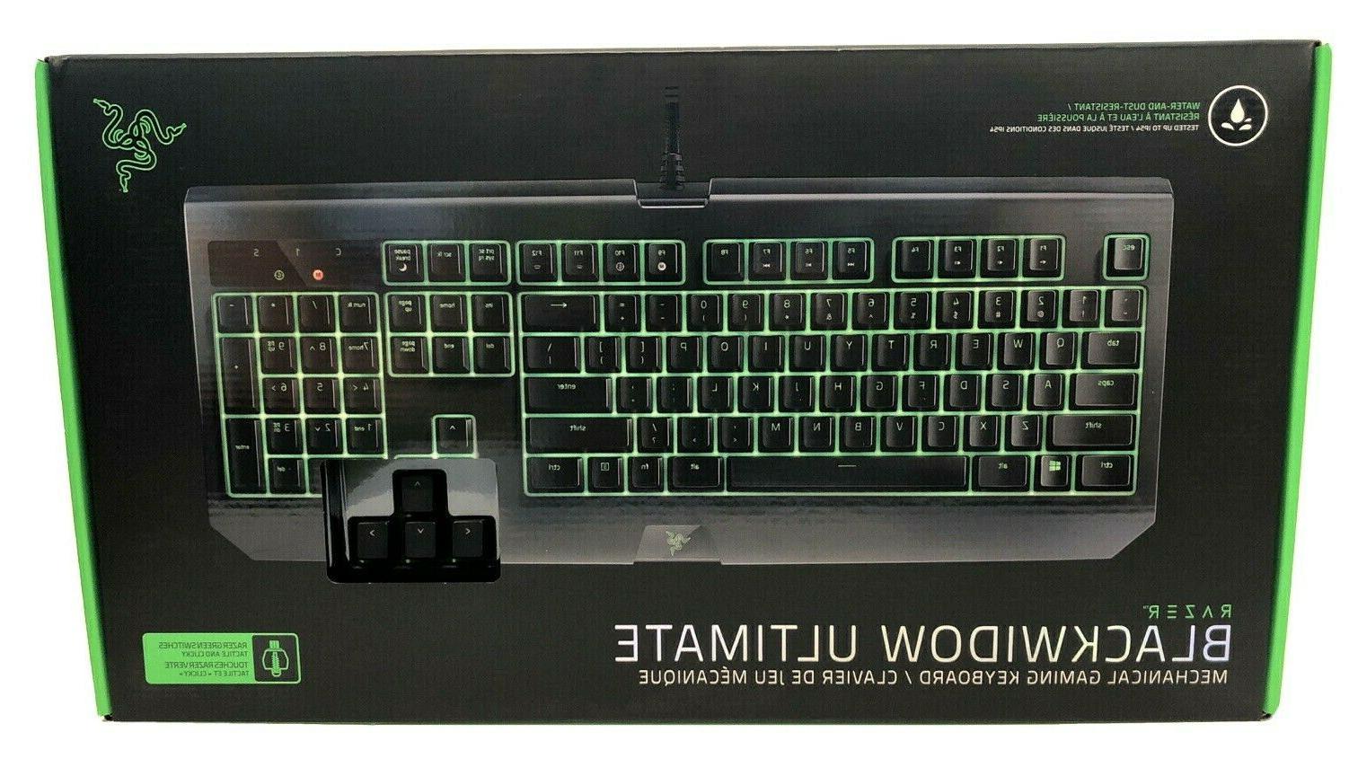 blackwidow ultimate mechanical gaming keyboard green pc