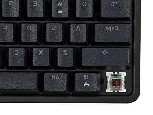 Monoprice Brown Mechanical Keyboard Black | for Desks, Workstations, Tables Workstream Collection