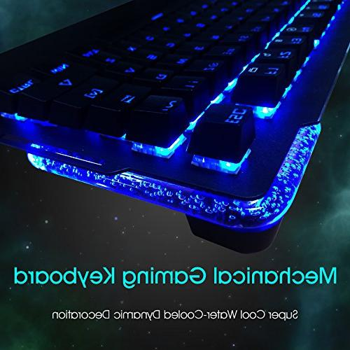 Kworld Keyboard LED with Switches, Key Anti-ghosting Lighting Rest for PC & Mac,