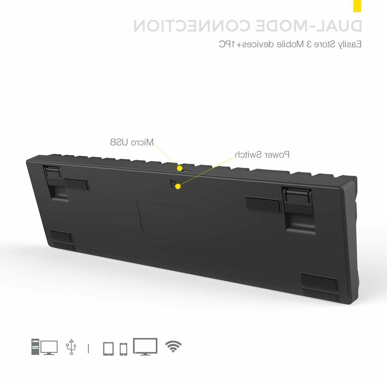 DREVO 71-Key Mechanical Keyboard TKL RGB Bluetooth/USB Wired