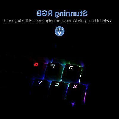 Drevo RGB Bluetooth Keyboard Blue