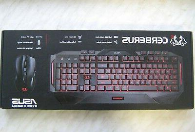 cerberus keyboard mouse gaming combo black english