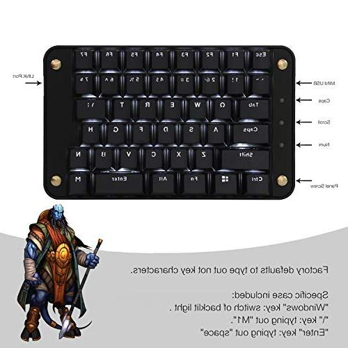 Koolertron Cherry Programmable Gaming Keyboard Programmable Keypad Macro Golden Can Turned