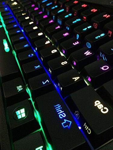 Noppoo Choc RGB backlighting REALKEY Gaming Keyboard