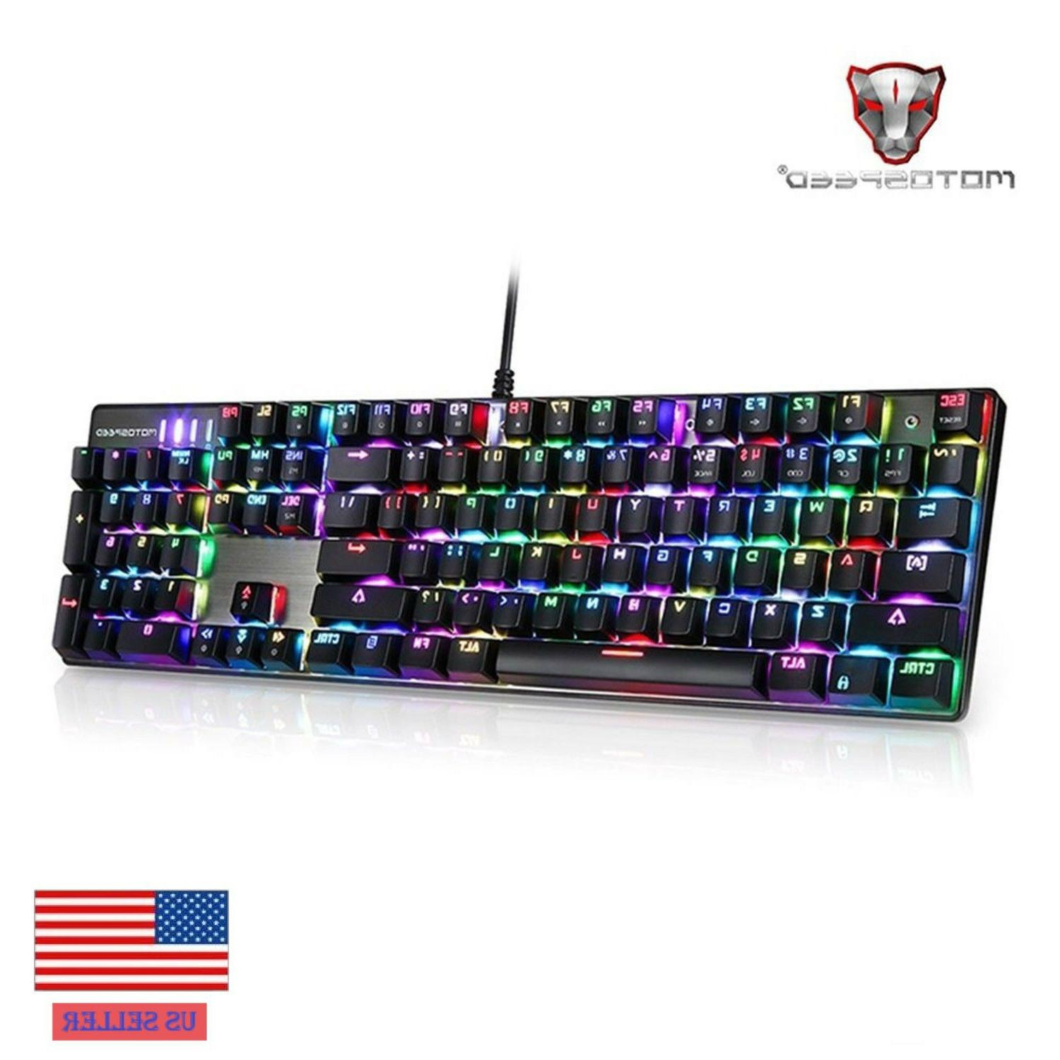 ck104 mechanical keypad wired gaming keyboard us
