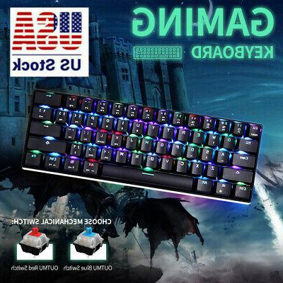 MOTOSPEED CK61 61 Keys Mechanical Gaming Keyboard OUTMU Lapt