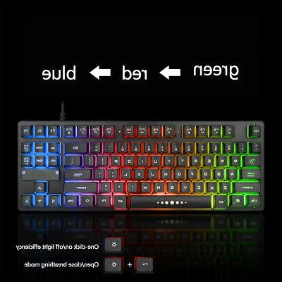 Ergonomic Wired Keyboard Keys Mechanical Desktop Accessories