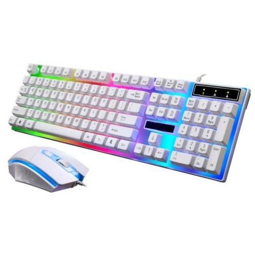 Computer Desktop Gaming Keyboard And Backlit Mechanical